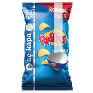 Ruffles Orijinal Sade Tırtıklı Patates Cipsi Mega Boy 10 Adet